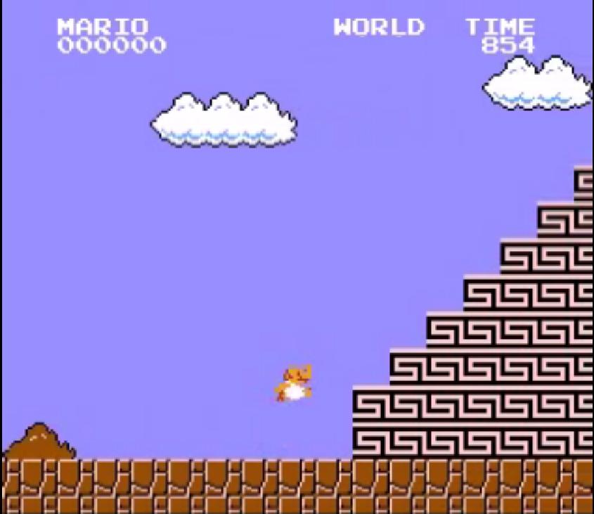 Sisyphus Mario, 8-bit hack