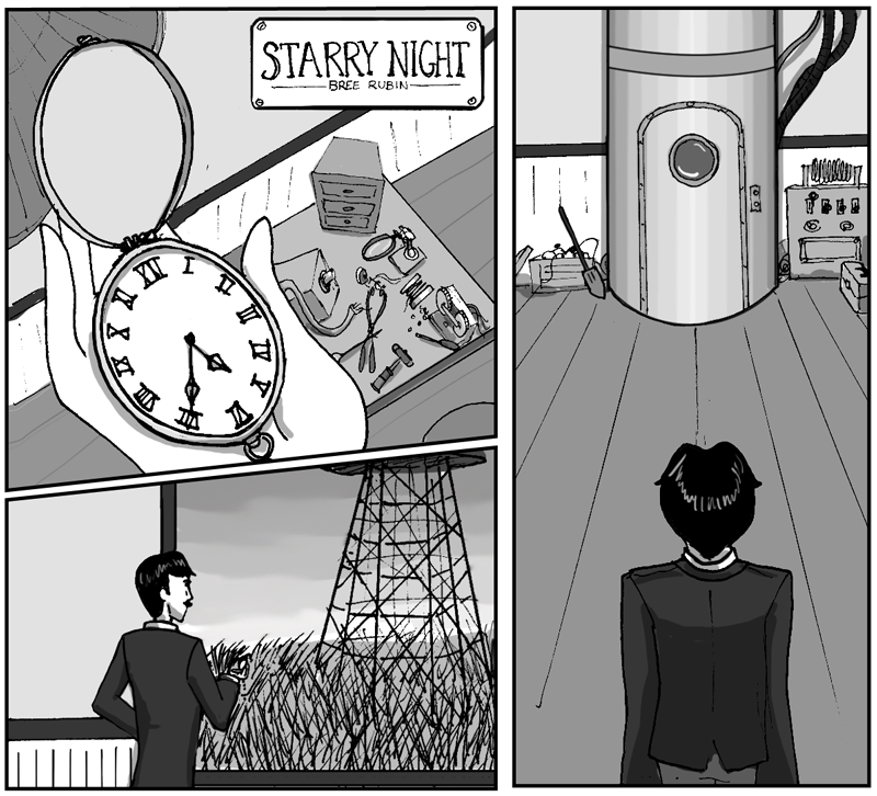 Starry Night, featuring Nikola Tesla
